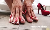 Shemale Isabelle shows off sexy feet