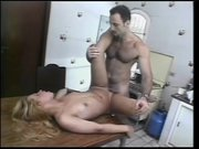Tgirl gets nailed on the kitchen table