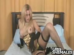 Adreylla shows off her hot tranny body